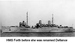 HMS Forth before she was renamed Defiance
